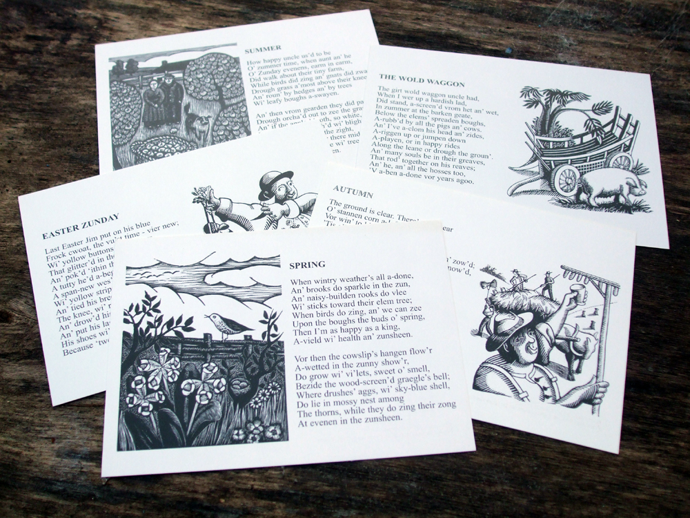 William Barnes Poems of the Seasons Postcards